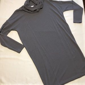 CAbi funnel neck long sleeve shirt dress